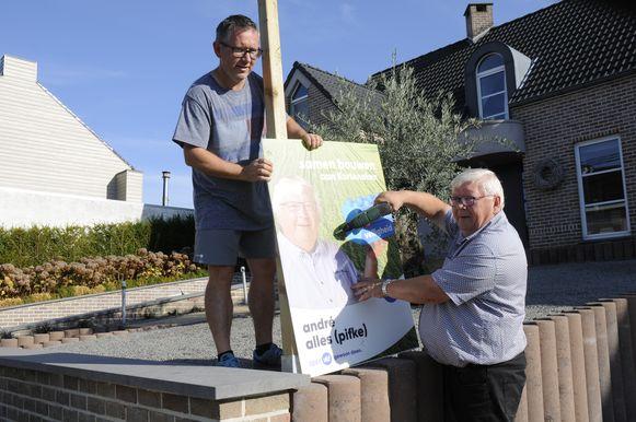 In Kortenaken diende André Alles (rechts op foto) klacht in tegen de verkiezingsuitslag.