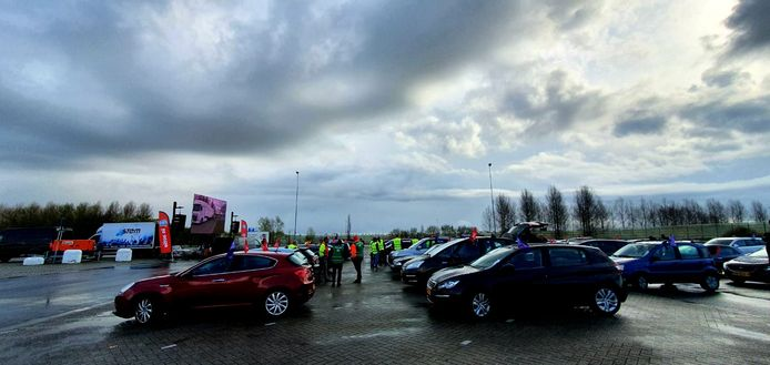 Manifestatie bij Zevenbergschen Hoek.