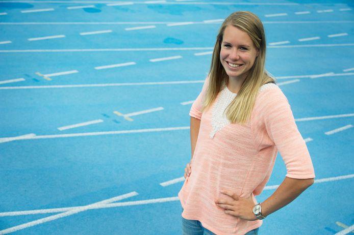 Marit Dopheide werd derde op 400 meter tijdens NK atletiek indoor in Apeldoorn.