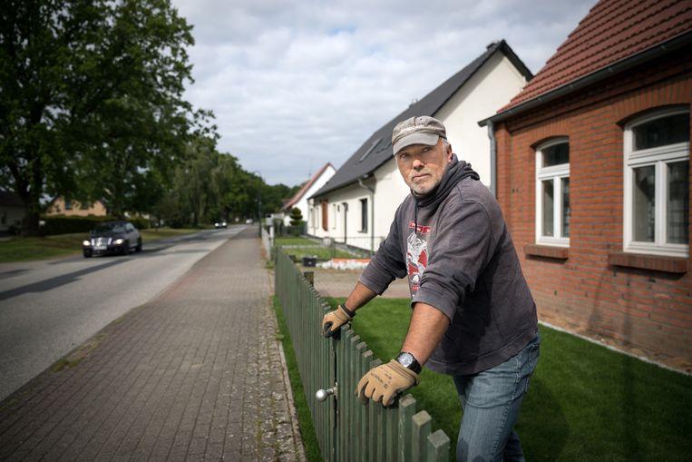 Marko Gross, spilfiguur in het neonazi-netwerk, bij wie wapens en munitie werden aangetroffen. Beeld NYT
