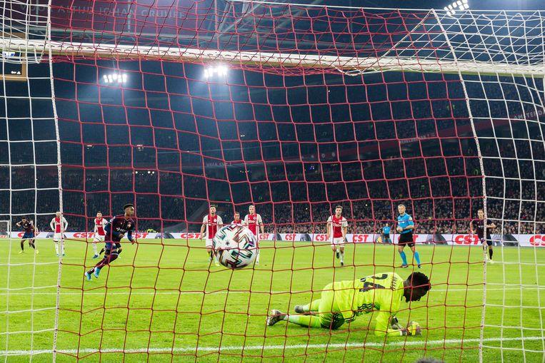 Mike Trésor van Willem II maakt in 2019 de 1-0 tegen Ajax. Beeld ANP Sport