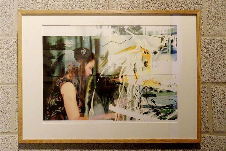 Een van de werken van Albertine Eylenbosch, momenteel te bezichtigen in de Academie.