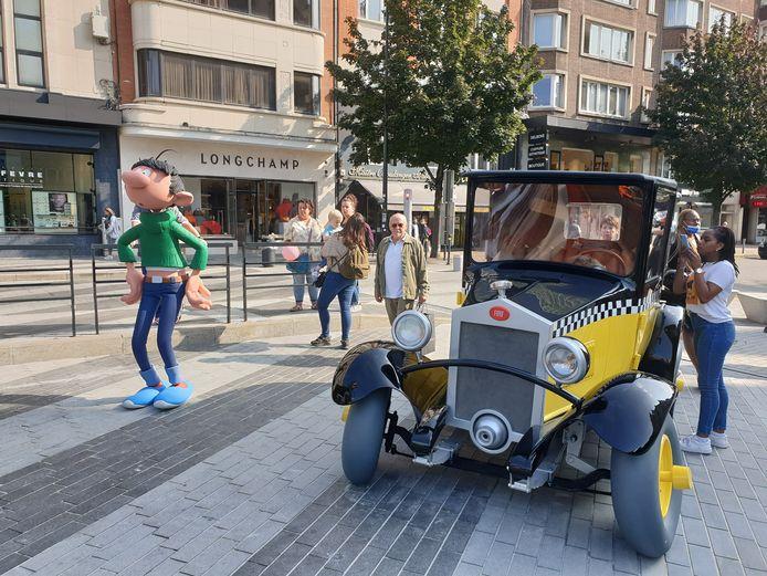 Trop propre, la voiture de Gaston Lagaffe à Charleroi ?
