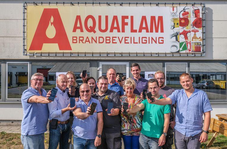 Ook in Aquaflam Deerlijk, een bedrijf dat producten voor brandpreventie verkoopt, stond Pia centraal vandaag. Van zaakvoerder Marc Meert mochten alle 30 werknemers vandaag met de gsm van het werk een sms'je sturen voor de actie.