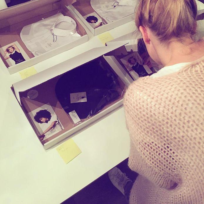 Liesbeth aan het werk.