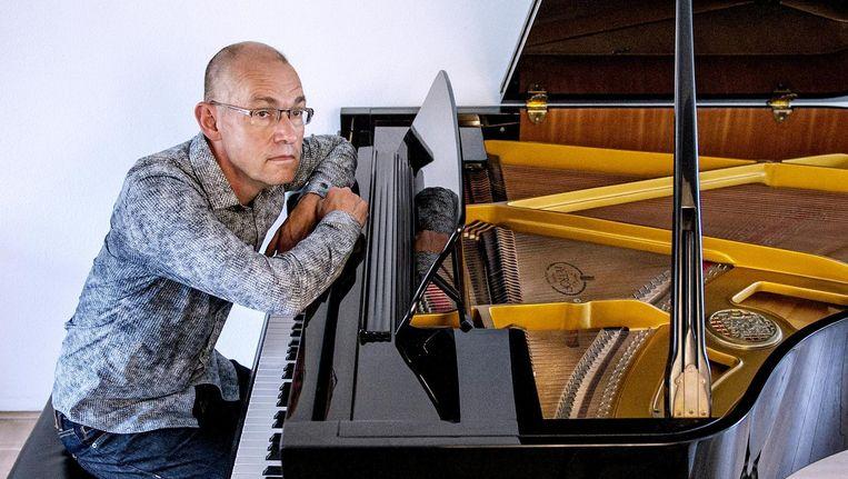 Componist Jan Marten de Vries stapte naar de rechter omdat zijn werk zonder toestemming wordt verspreid. Beeld Trouw, Patrick Post