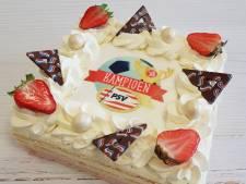 Bakkerij Bekkers begint alvast met verkoop PSV-kampioenstaarten: We gaan er een paar honderd maken