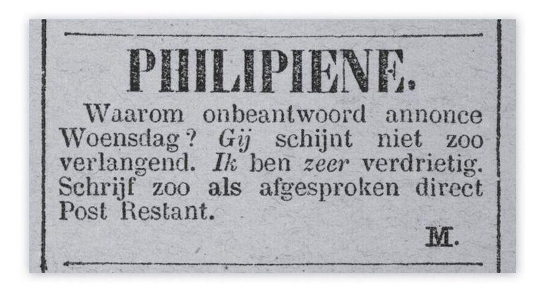 Nieuws van den Dag, 1882 Beeld Instagram