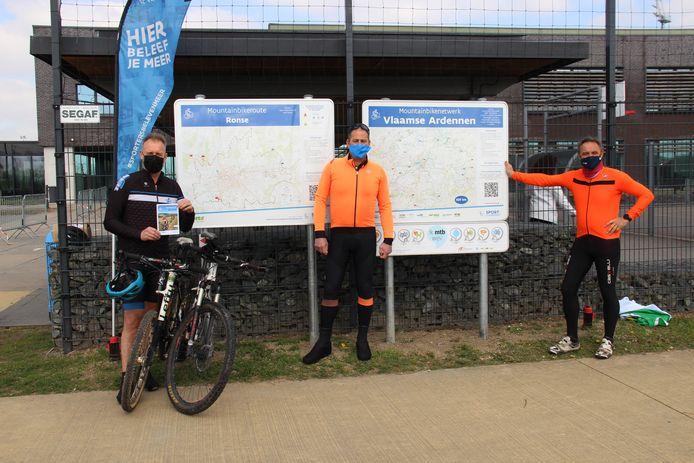 Het nieuwe mountainbikeparcours in Ronse is voorgesteld.