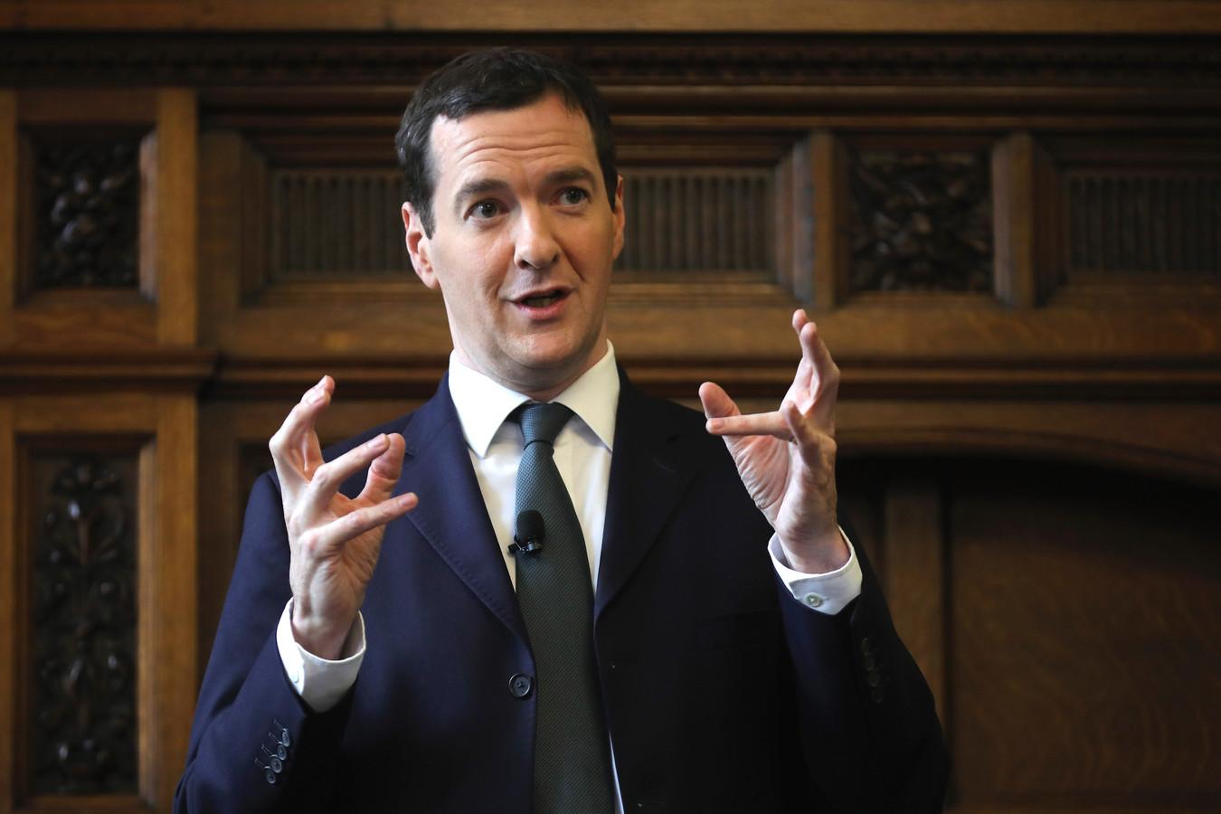 De Britse minister van Financiën George Osborne.