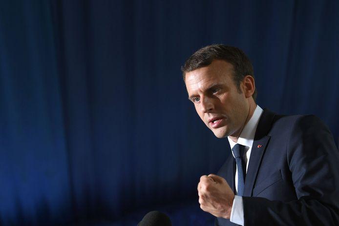 Frans president Emmanuel Macron.