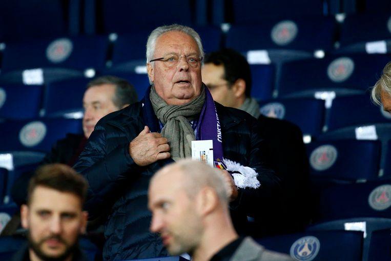 Roger Vanden Stock, voorzitter van Anderlecht, dubt over de verkoop van zijn club Beeld Photo News