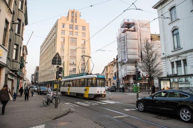 Het kruispunt van de Isabellalei met de Lange Leemstraat in Antwerpen.