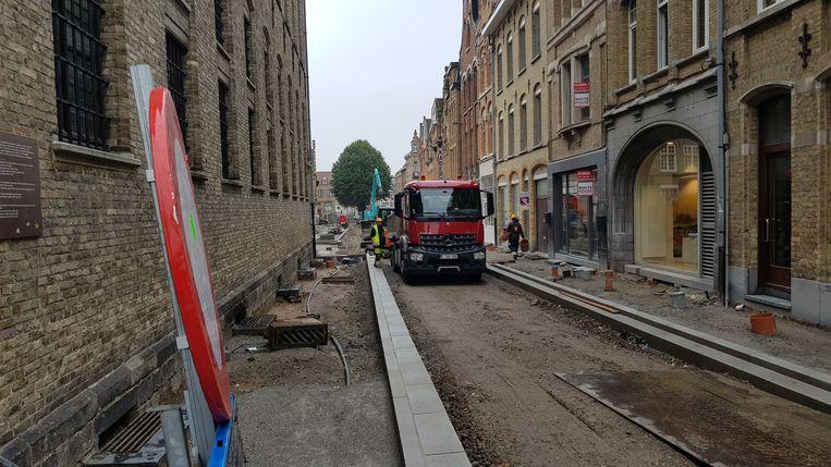De werken in de Boomgaardstraat zullen eerder klaar zijn dan verwacht.