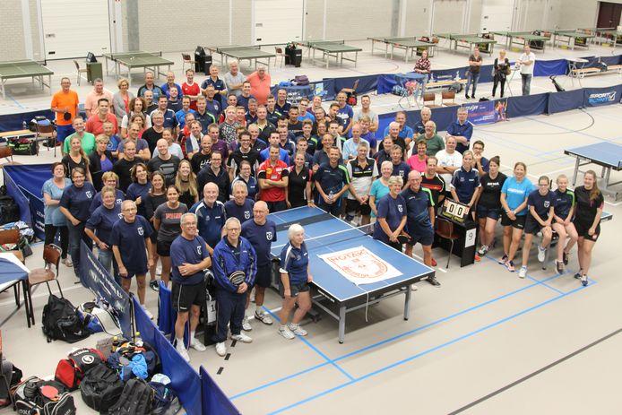 Tafeltennisvereniging Hotak'68 vierde het 50-jarig jubileum in 2018 met een toernooi in MFC Kloosterhof te Hoogerheide. De club verhuist straks toch niet mee naar het IKC, het nieuw te bouwen scholencomplex in Woensdrecht.