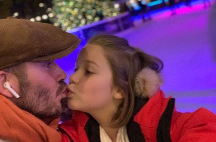 David Beckham en zijn dochter Harper