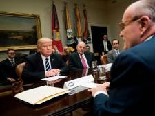 Advocaat Rudy Giuliani helpt Trump van de regen in de drup