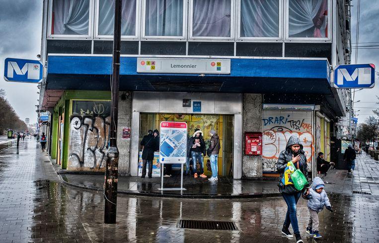 Metrostation Lemonner heeft een kwalijke reputatie. Beeld Tim Dirven