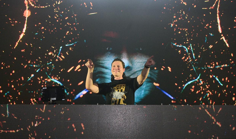 DJ Tiësto tijdens een show in Georgia, VS Beeld WireImage