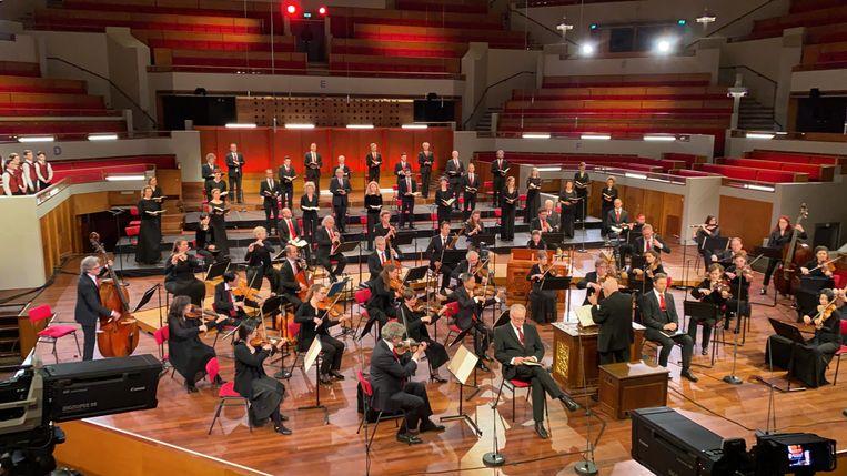 Matthäuspassion door Ton Koopman en zijn Amsterdam Baroque Orchestra & Choir. De opname is gemaakt in TivoliVredenburg in Utrecht.   Beeld MAX