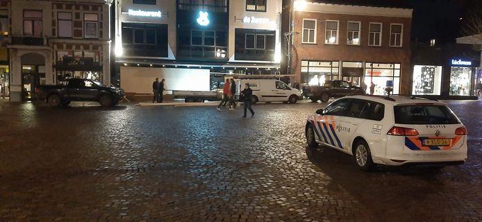 Politie was ook dinsdagavond al aanwezig in het centrum van Winterswijk.