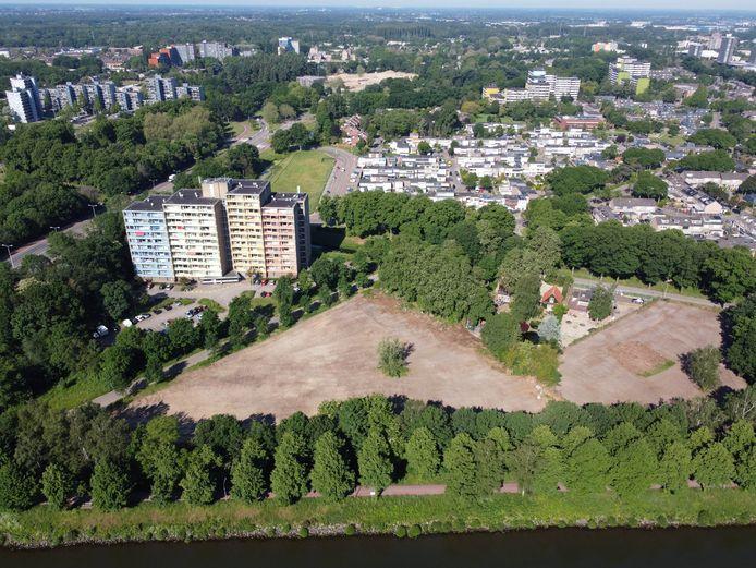 Kaalslag hoek Nieuwe en oude Dukenburgseweg en Maas Waalkanaal. Nijmegen, 8-6-2021 . GV