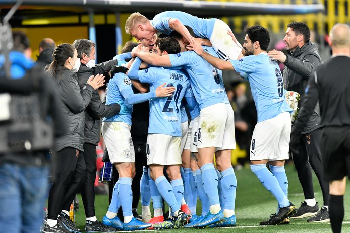 De vreugde bij Manchester City was navenant.