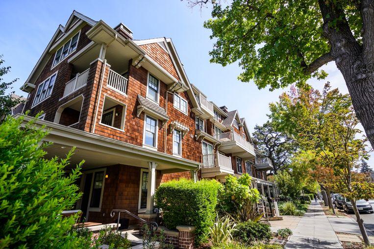 Een residentiële wijk in Palo Alto.