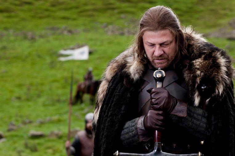 Sean Bean als Eddard Stark in 'Game of Thrones'. Beeld AP