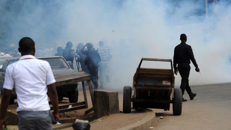 Protesten in Abidjan. Beeld afp