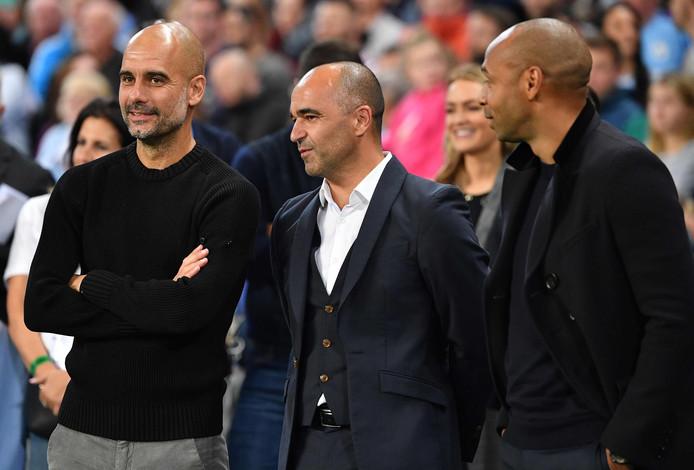 Pep Guardiola, Roberto Martines, Thierry Henry.