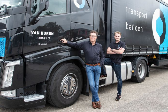 Henk en Floris van Buren over de groei van hun transport en bandenbedrijf.