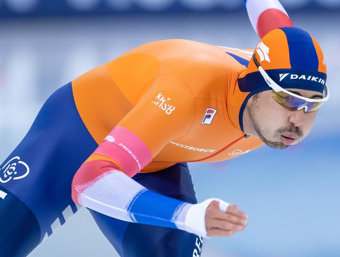 Kai Verbij was de beste Nederlander op de 500 meter in Tomaszów.