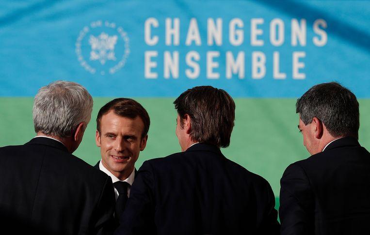 President Macron maakte vandaag duidelijk dat hij vasthoudt aan zijn plan om de accijnzen op diesel en benzine begin volgend jaar te verhogen.  Beeld EPA
