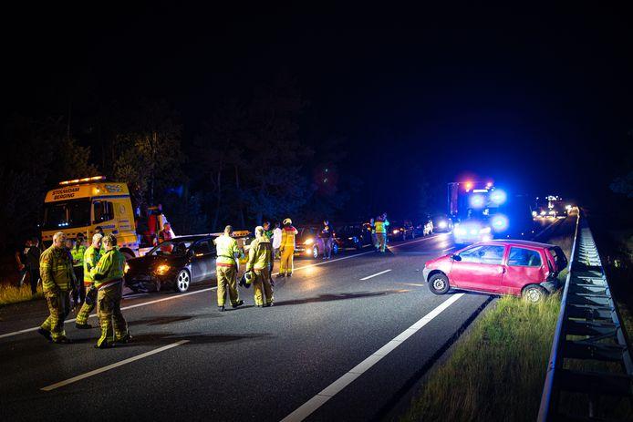 De weg ging korte tijd op slot na het ongeluk op de A28.