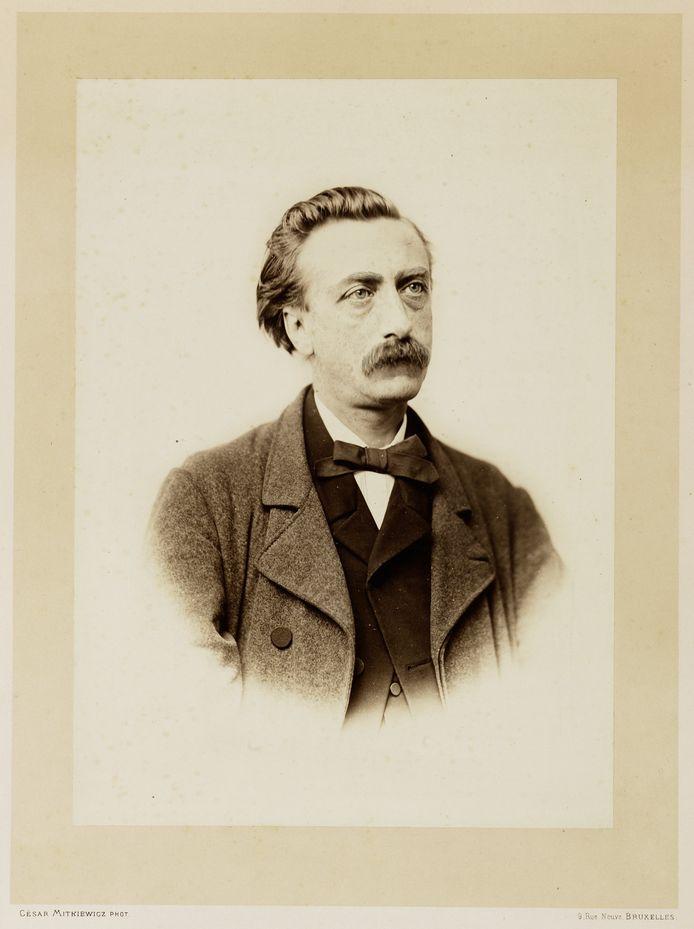 Portret van Eduard Douwes Dekker, alias Multatuli.