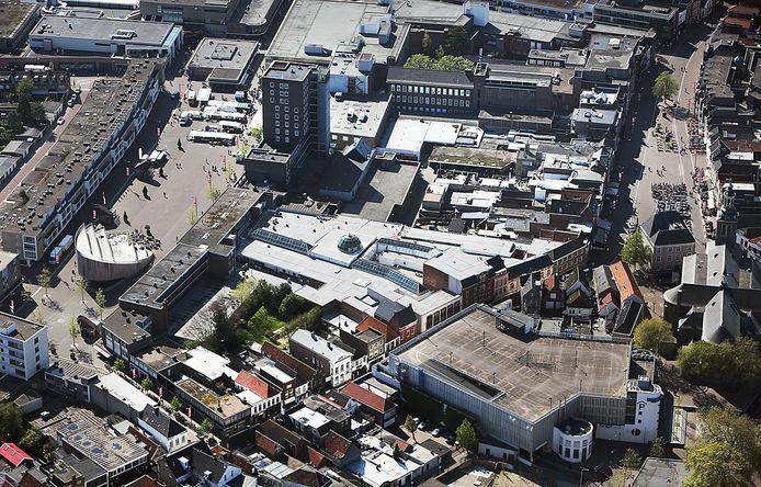 Centrum van Roosendaal met Nieuwe en Oude Markt