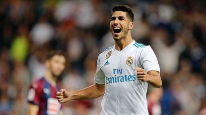 Wanneer het niet lukt voor Ronaldo en Benzema op de bank zit, trekt Asensio Real over de streep