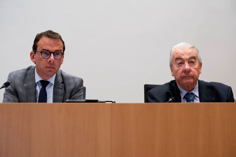 Minister Wouter Beke en graaf Paul Buysse. Beeld Photo News
