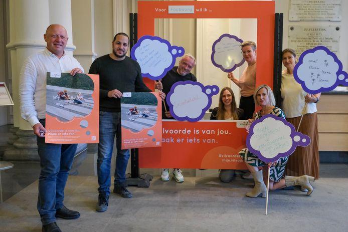 De voorstelling van het participatietraject voor de wijken van Vilvoorde.