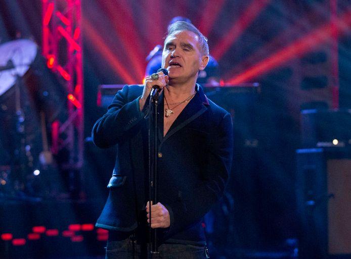 Morrissey tijdens een optreden in 2017.