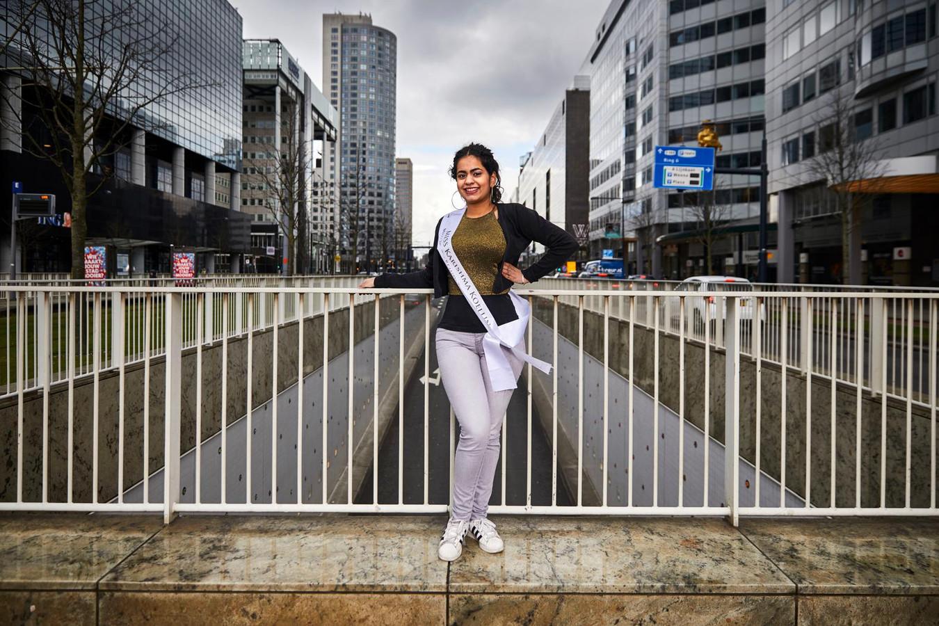 Karishma Koellin is in de race voor de felbegeerde titel Miss Indian Beauty. © Jan de Groen
