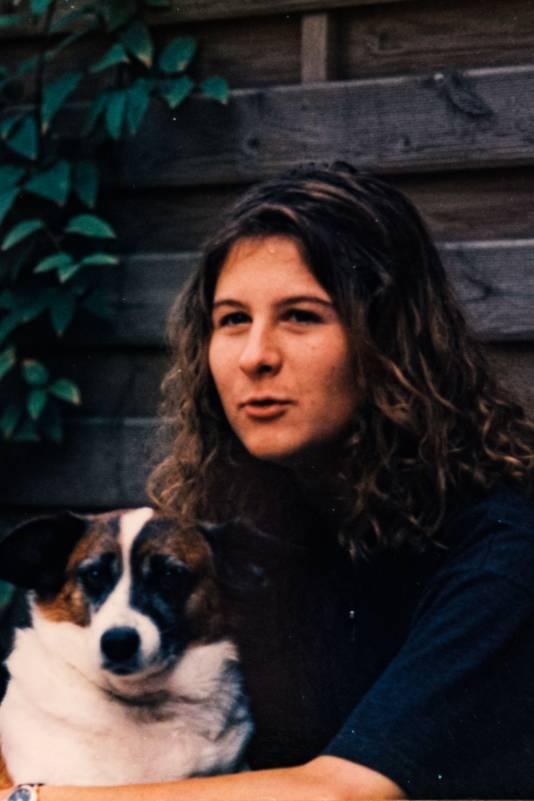 An et sa chienne Lady en août 1995.