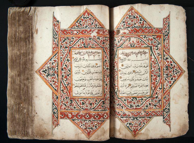 Koran uit Atjeh, buitgemaakt tijdens de Atjeh-oorlog. Beeld Museum van Wereldculturen