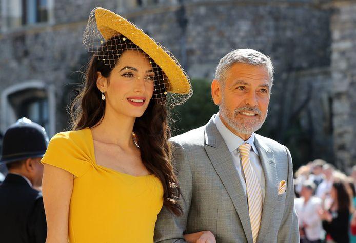 Amal et George Clooney au mariage des Sussex