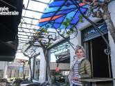 Terras van café De Meerschblomme is net op tijd klaar voor opening morgen: 'Ik kan dubbel zoveel klanten een plaatsje geven'