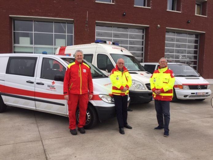 Geert Gabriëls, Ronny Henin en Wilfried De Keyser van Rode Kruis Duffel/Sint-Katelijne-Waver