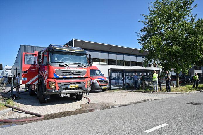 Brand in een inpandige container in de aanmaakblokjes fabriek Fire-Up in Oisterwijk