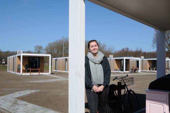 Joyce Tettero is één van de bewoonsters van de de tiny houses in Renesse. Die woningen stonden er in 2 jaar