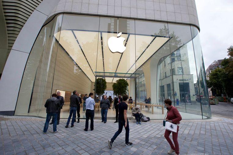 De Apple Store in Brussel.